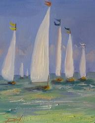 Art: Tall Sails by Artist Delilah Smith