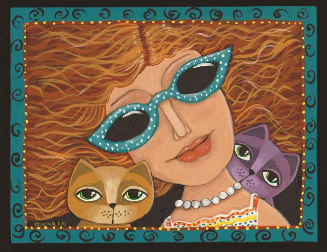 Art: Cat Lady by Artist Cindy Bontempo (GOSHRIN)
