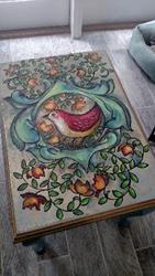 Art: The Red Bird End Table by Artist Chris Jeanguenat