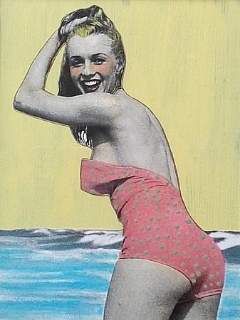 Art: Mid Century Modern Swimsuit by Artist Sherry Key