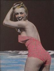 Art: Mid Century Modern Swimsuit by Artist Sherry Key