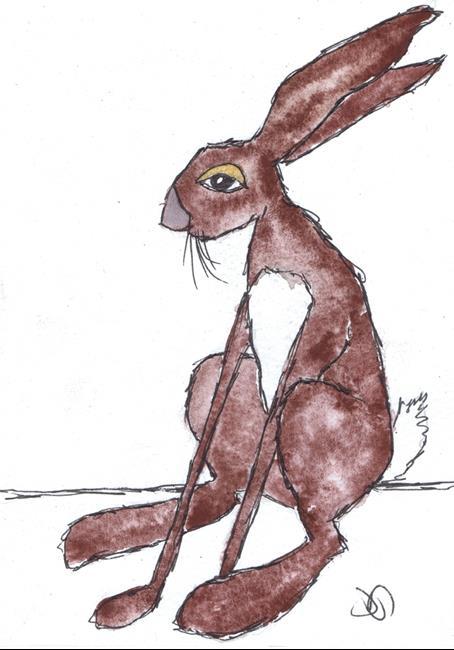 Art: DOZEY HARE h3304 by Artist Dawn Barker