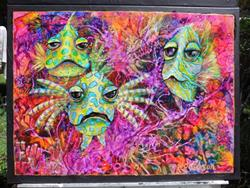 Art: Coral Reef Fish SOLD by Artist Ke Robinson
