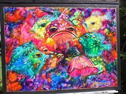Art: Hide n Seek Coral Fish 1604 by Artist Ke Robinson