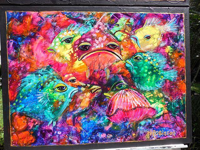 Art: Hide n Seek Coral Fish SOLD by Artist Ke Robinson