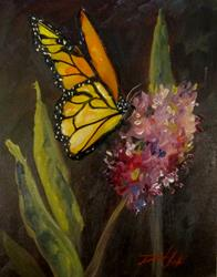 Art: Butterfly and Flower-sold by Artist Delilah Smith