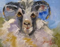 Art: Sheep-sold by Artist Delilah Smith