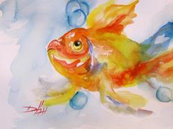 Art: Gold Fish by Artist Delilah Smith