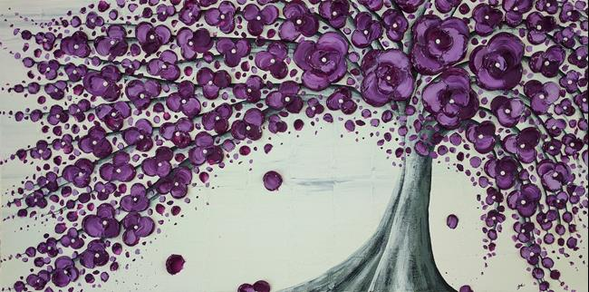 Art: Purple Poetry (sold) by Artist Amber Elizabeth Lamoreaux