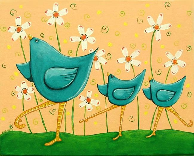 Art: Bluebirds Of Happiness by Artist Cindy Bontempo (GOSHRIN)