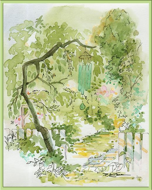 Art: Plein Air ~ EBSQ Garden Exhibit by Artist Patricia  Lee Christensen
