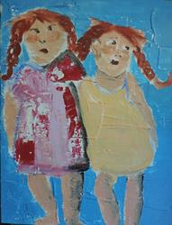 Art: girlfriends no. 3 by Artist Nancy Denommee