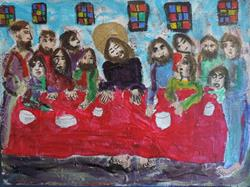 Art: last supper by Artist Nancy Denommee