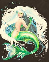 Art: Silvery Secrets by Artist Nico Niemi