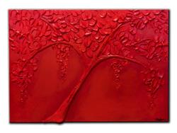 Art: RED TREE by Artist Kate Challinor