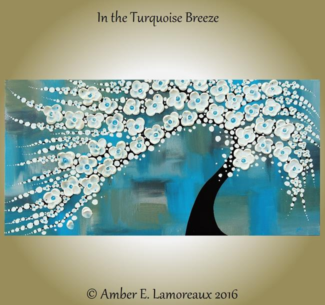 Art: In the Turquoise Breeze (sold) by Artist Amber Elizabeth Lamoreaux
