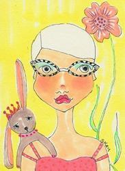 Art: Cat Glasses by Artist Sherry Key