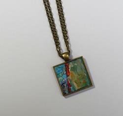 Art: Abstract Miniature Painting ~ Original Wearable Art (Sold) by Artist Dana Marie