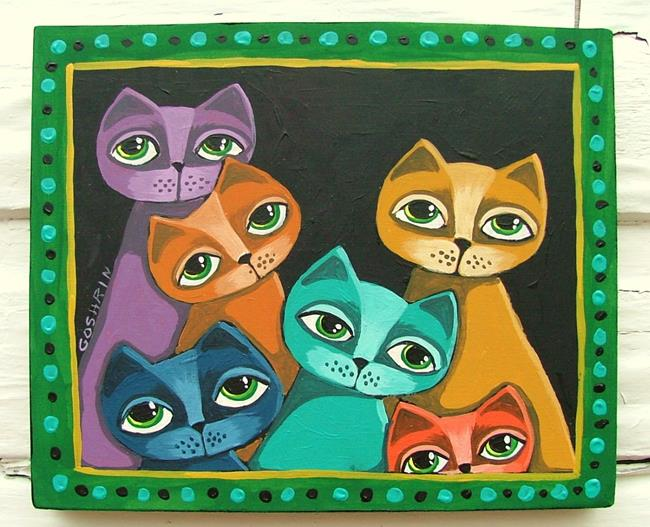 Art: Colorful Cats by Artist Cindy Bontempo (GOSHRIN)