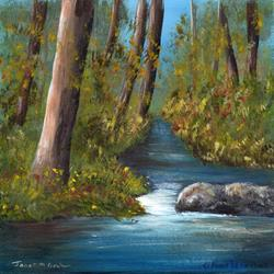 Art: River Forest No 2 by Artist Janet M Graham