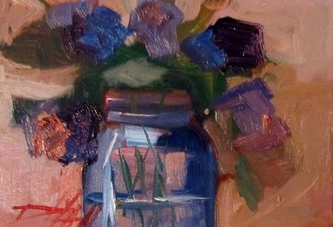 Art: Flowers in a Jar by Artist Delilah Smith