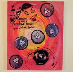 Art: Magic 8 Ball say Yes by Artist Paul Lake, Lucky Studios