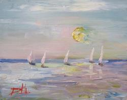 Art: Sails in the Sun by Artist Delilah Smith