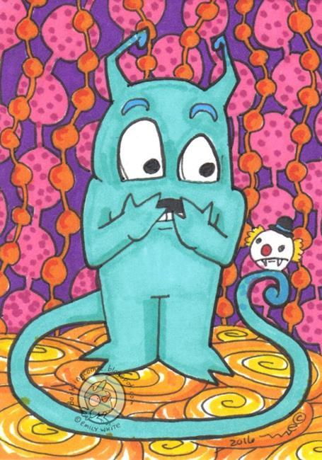 Art: Monster Scared by Artist Emily J White