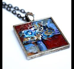 Art: Contemporary Miniature Painting ~ Wearable Art by Artist Dana Marie