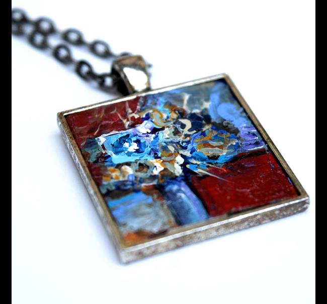 Art: Blue Eyed Beauty ~ Original Wearable Art by Artist Dana Marie
