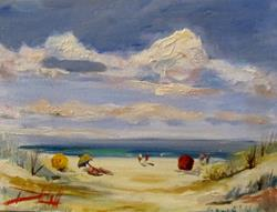 Art: A Day at the Beach by Artist Delilah Smith