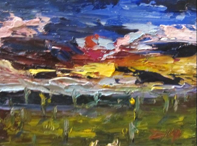 Art: Desert Sunset by Artist Delilah Smith
