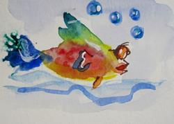 Art: Fancy Tail Fish No. 2 by Artist Delilah Smith