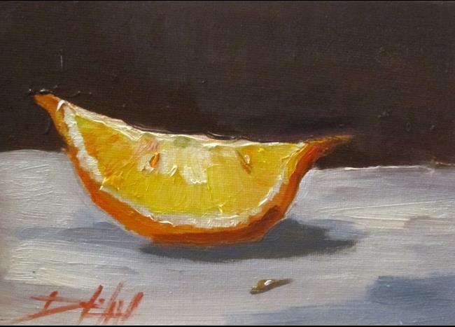 Art: Orange Slice by Artist Delilah Smith