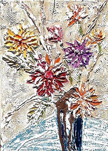Art: Dalhias by Artist Alma Lee