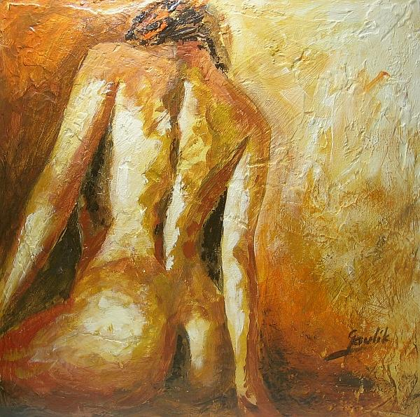 Art: Female Figure by Artist Ewa Kienko Gawlik