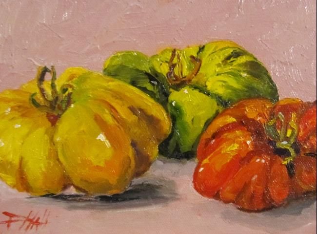 Art: Heirloom Tomatos No. 2 by Artist Delilah Smith