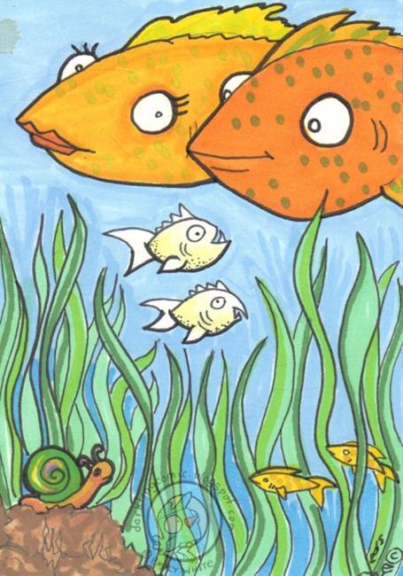 Art: Snail + Fish by Artist Emily J White