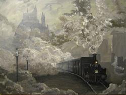 Art: Hogwarts Express by Artist J A Blackwell