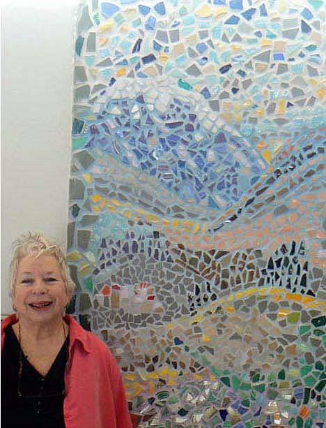 Art: Mosaic wall panel in my art studio by Artist Naquaiya