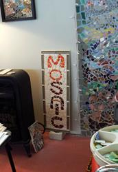 Art: mosaic sign in my art studio by Artist Naquaiya