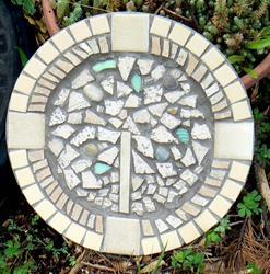 Art: Tree of Life mosaic plate by Artist Naquaiya