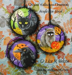 Art: Original Halloween Ornaments #1 by Artist Lisa M. Nelson