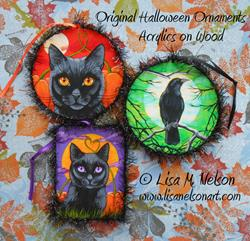Art: Original Halloween Ornaments #2 by Artist Lisa M. Nelson