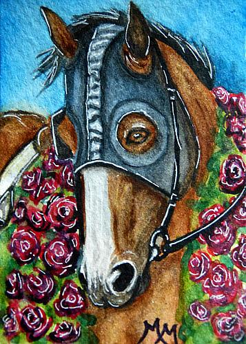 Art: Garland or Roses  (SOLD) by Artist Monique Morin Matson