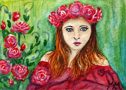 Art: Rose Beauty  (SOLD) by Artist Monique Morin Matson