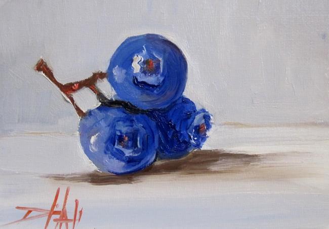 Art: Blue Berries by Artist Delilah Smith