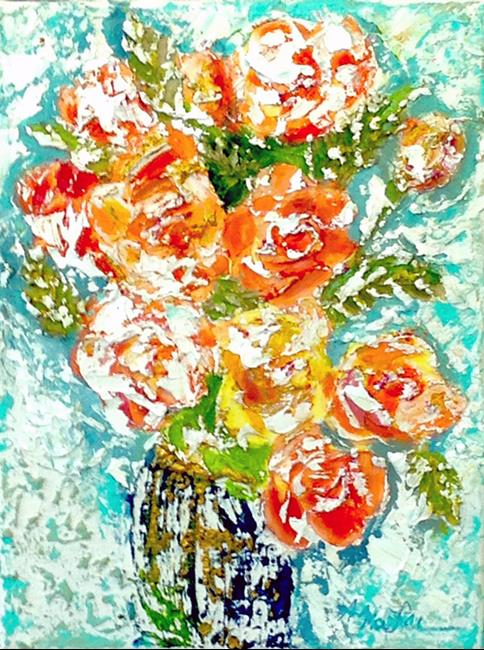 Art: Rose's: First Impression by Artist Alma Lee