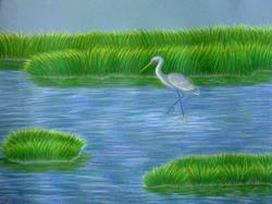 Art: Carolina Marsh by Artist Jackie K. Hixon