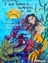 Art: 1633 14x11 mermaid by Artist Ke Robinson